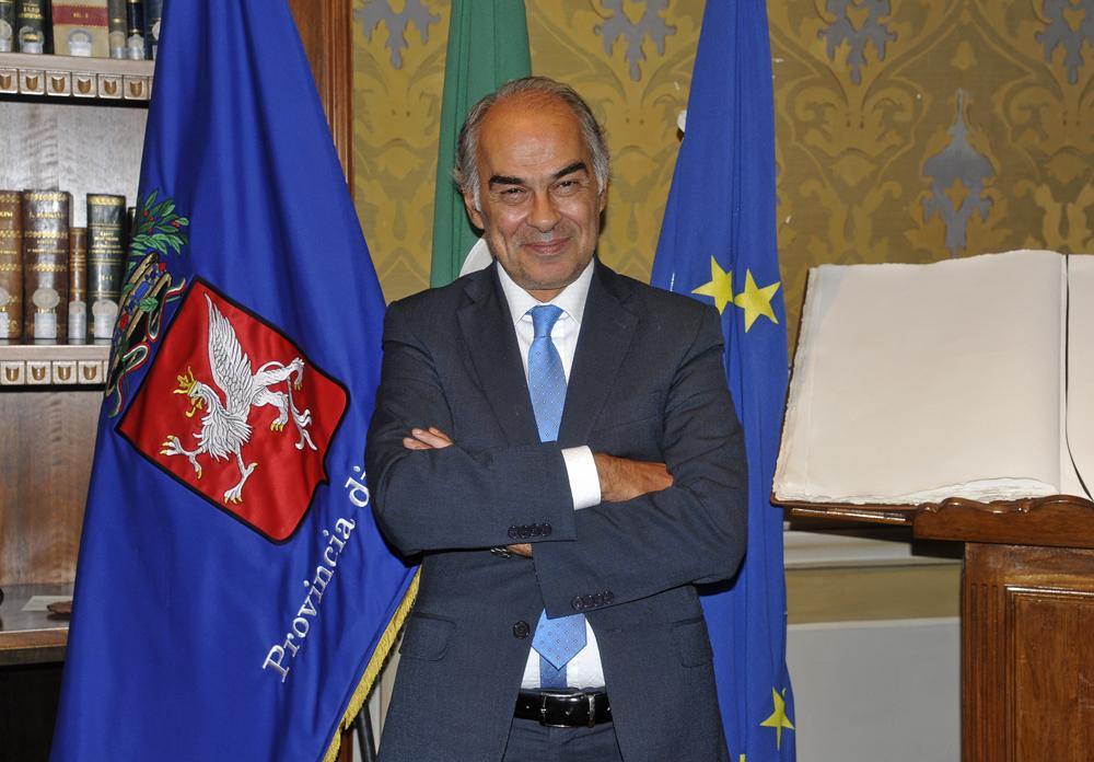 Gli auguri di buon lavoro al Presidente del Consiglio, Mario Draghi dal Presidente della Provincia, Luciano Bacchetta