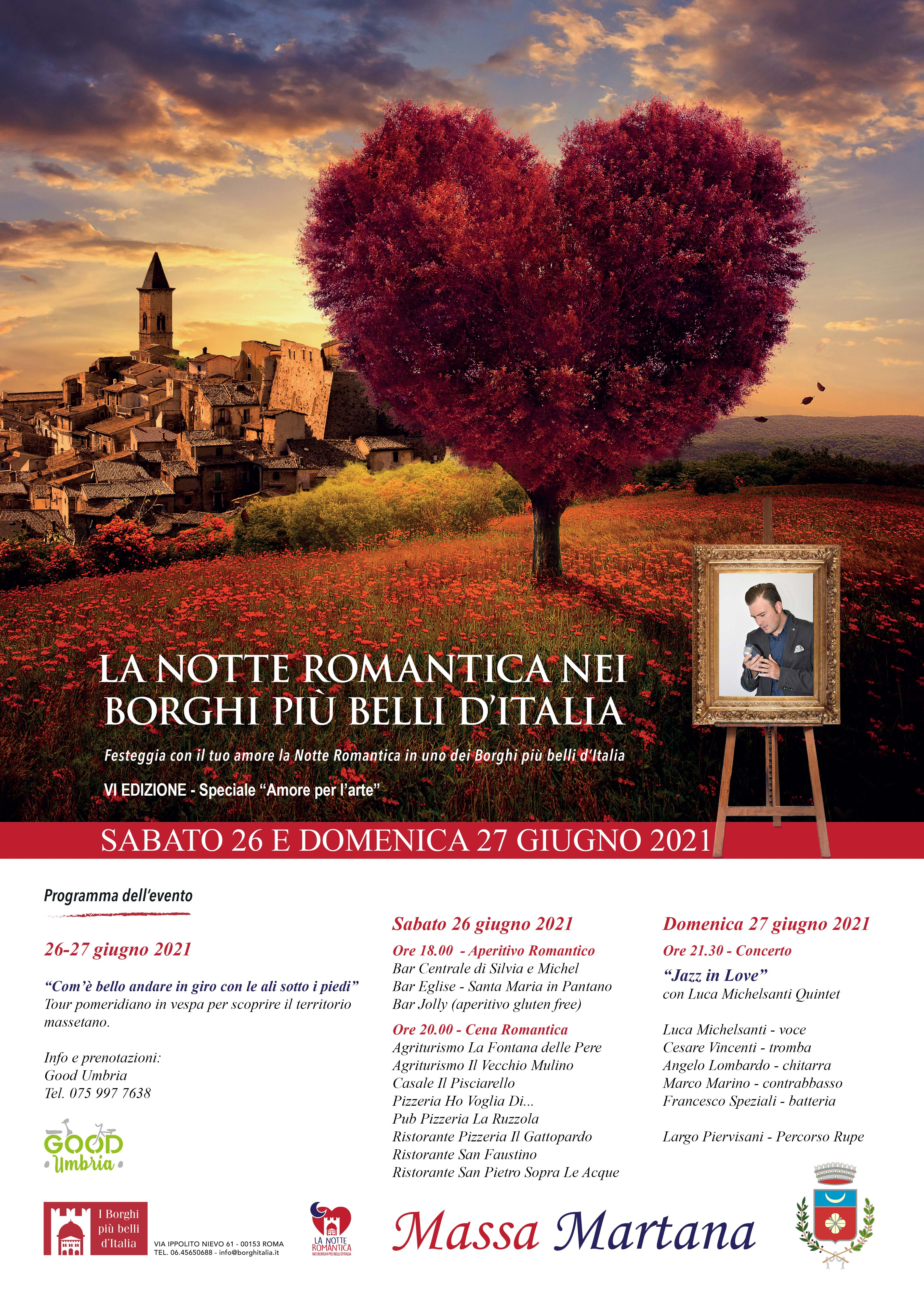 Notte Romantica 2021 – Massa Martana si prepara a vivere un fine settimana all'insegna del romanticismo