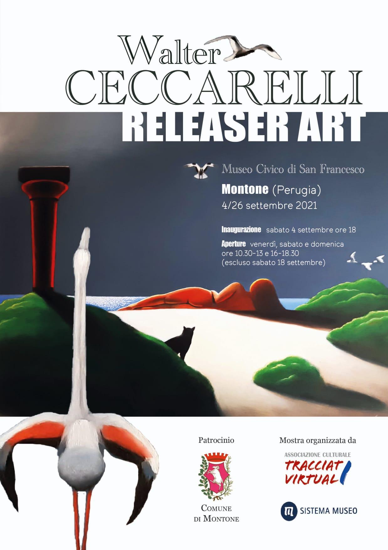 """Montone – Sabato si apre la mostra """"Releaser Art"""" di Walter Ceccarelli"""